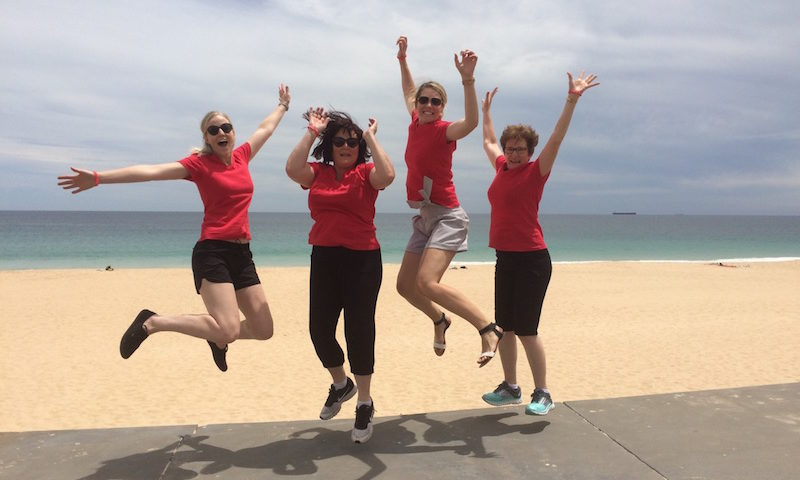 Scavenger Hunts Australia Ladies Jumping Photo